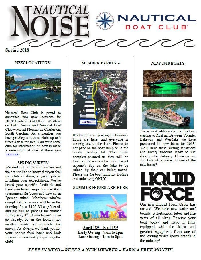 Boat Club News